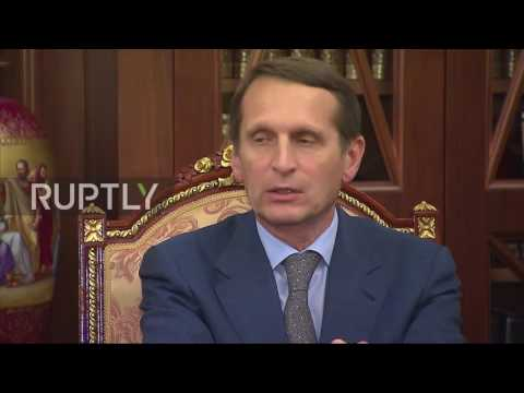 Russia: Naryshkin appointed head of Russia's foreign intelligence agency