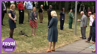 Out and About Again! Prince Charles and Camilla Meet Frontline Workers in Gloucestershire