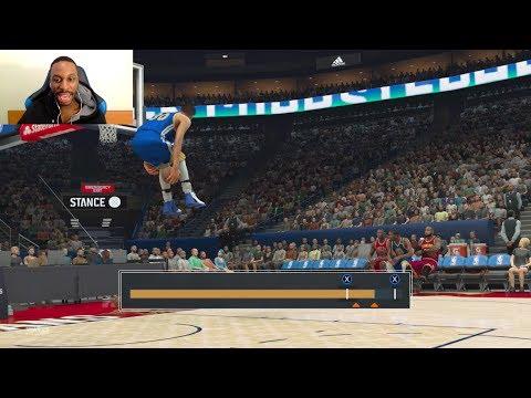 Giant Player Slam Dunk Contest! Stephen Curry vs LeBron James vs Kevin Durant vs Michael Jordan!