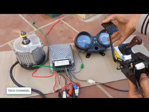 TECH - Full set of brushless electric motors 60v 850w make a electric car