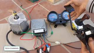 make a drill using electric motor