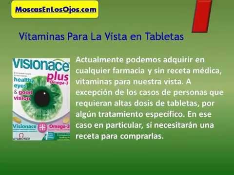 vitamina que sirve para la vista