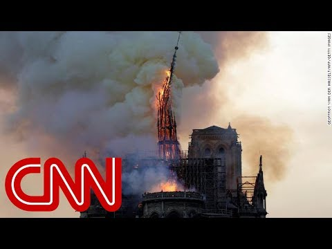 Notre Dame cathedral spire collapses