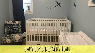 Small Baby Boy Nursery Tour Ikea Furniture | March 2017