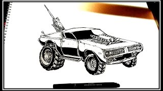 Drawing mad max charger (time lapse)