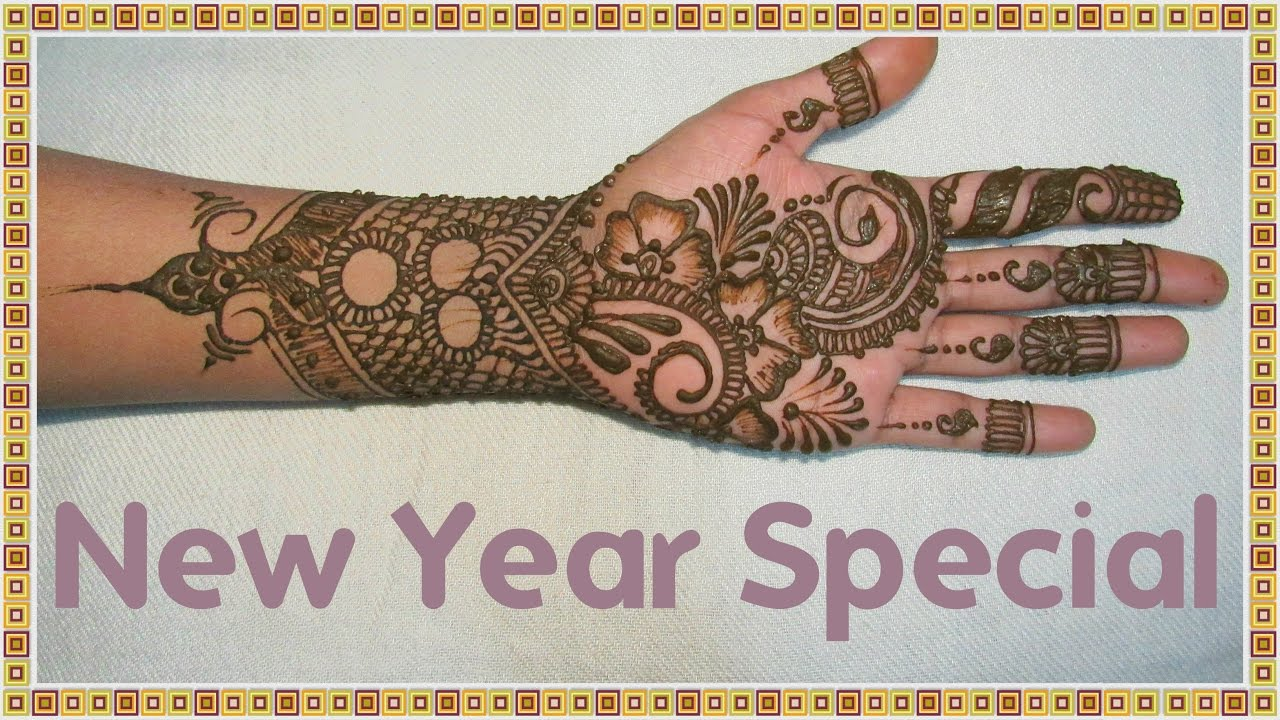 Easy Mehndi Ideas : New year special mehndi design stylish and easy designs