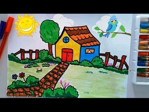 Kolay Ev Ve Manzara çizme Boyama çocuklar Için Netya çocuk