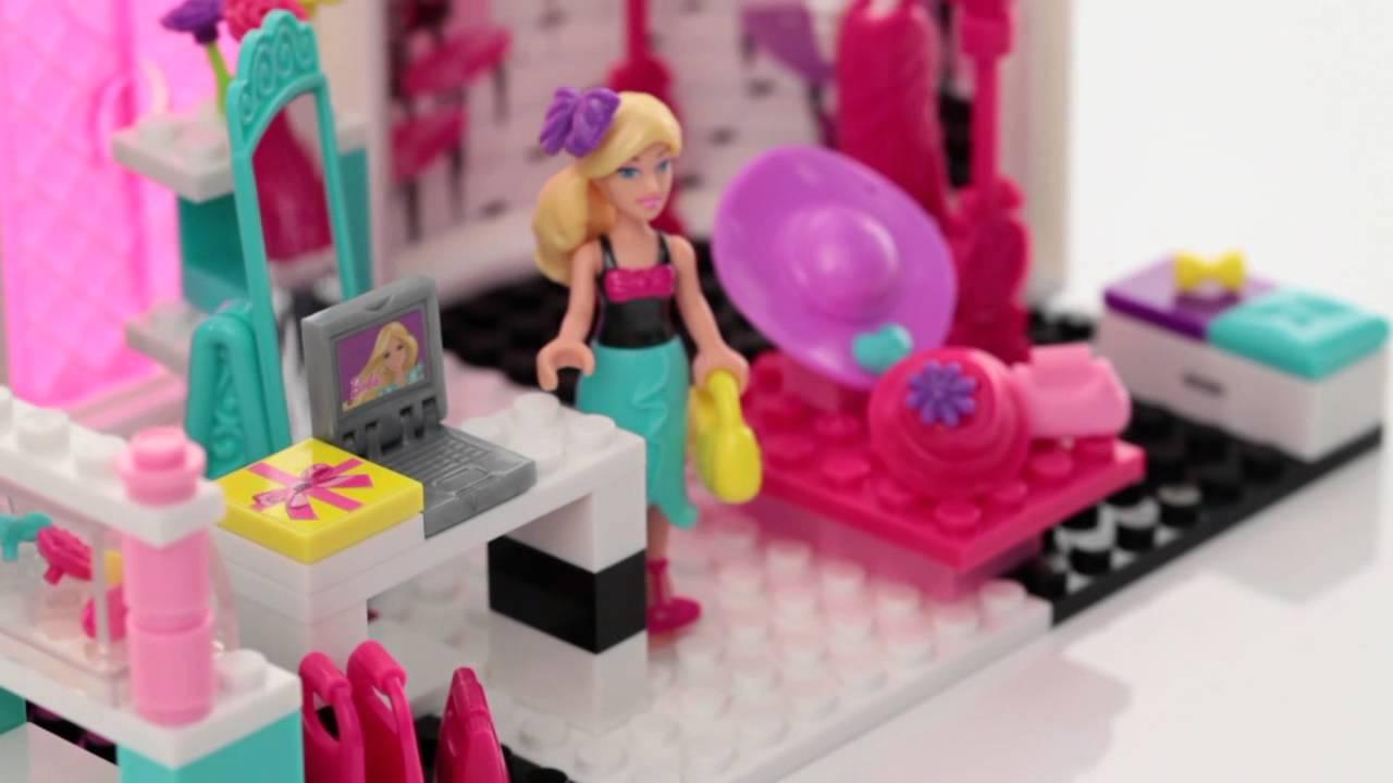 Mega Bloks Tafel : Mega bloks barbie style fashion boetiek youtube