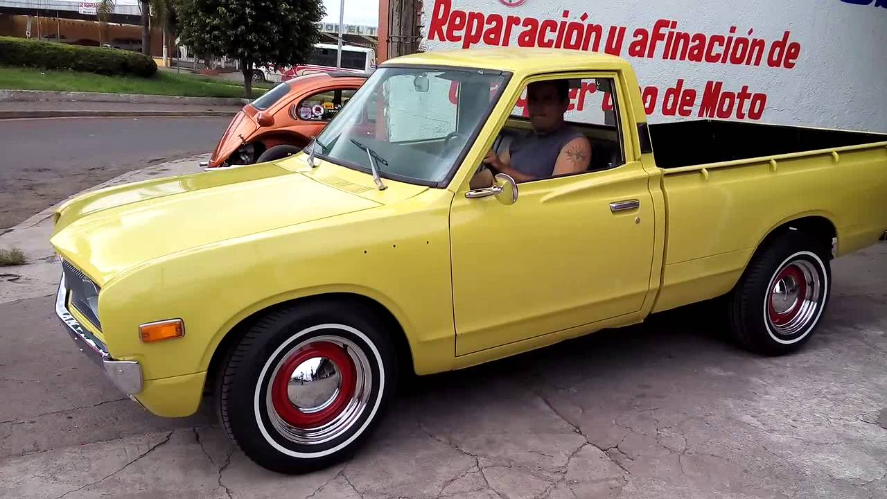 1973 Datsun pickup hot rod wheels!! - YouTube