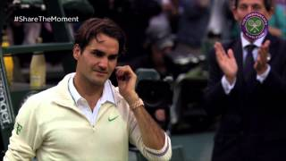 Share the Moment: Federer wins record-equalling seventh Wimbledon title