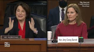 WATCH: Sen. Amy Klobuchar questions Supreme Court nominee Amy Coney Barrett