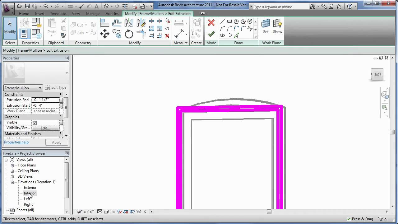 Edit a Revit family to create an arched window - YouTube