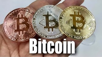 Gold, Silver, and Bronze Metal Bitcoin Coins