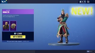 GUAN YU SKIN AND FINGER GUNS RELEASE! FORTNITE DAILY ITEM SHOP (December 1st, 2018)