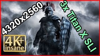 Ryse Son of Rome -3x  GTX Titan X SLI 4K (4320x2560) gameplay