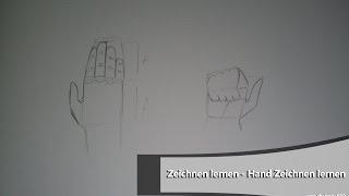 Zeichnen Lernen - Hand Zeichnen lernen Teil 1