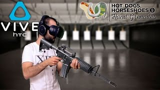 SIMULADOR DE ARMAS (HTC Vive) | HOT DOGS, HORSESHOES & HAND GRENADES Gameplay Español