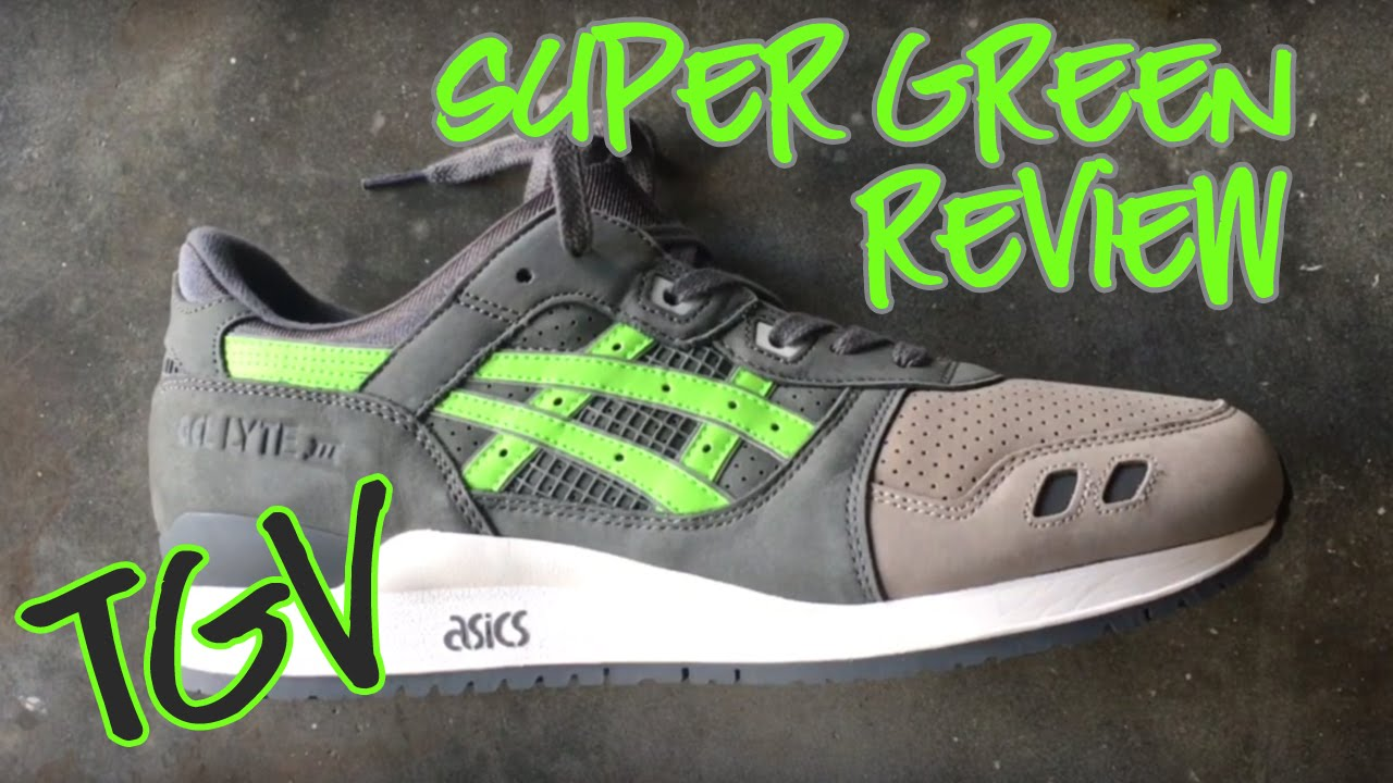 hot sale online e427a d9e61 ASICS X RONNIE FIEG - Gel Lyte III // Super Green - In Hand Review 2016