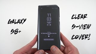 Samsung Official Clear S-View Flip Cover for Galaxy S8+