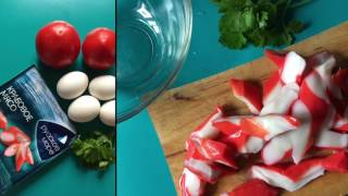 Лёгкий салат из Крабового Мяса