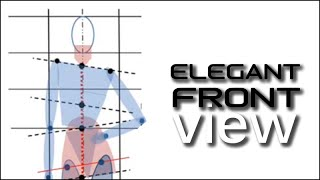 Static frontal pose tutorial for elegant fashion line: Fashion Design Drawing Lesson