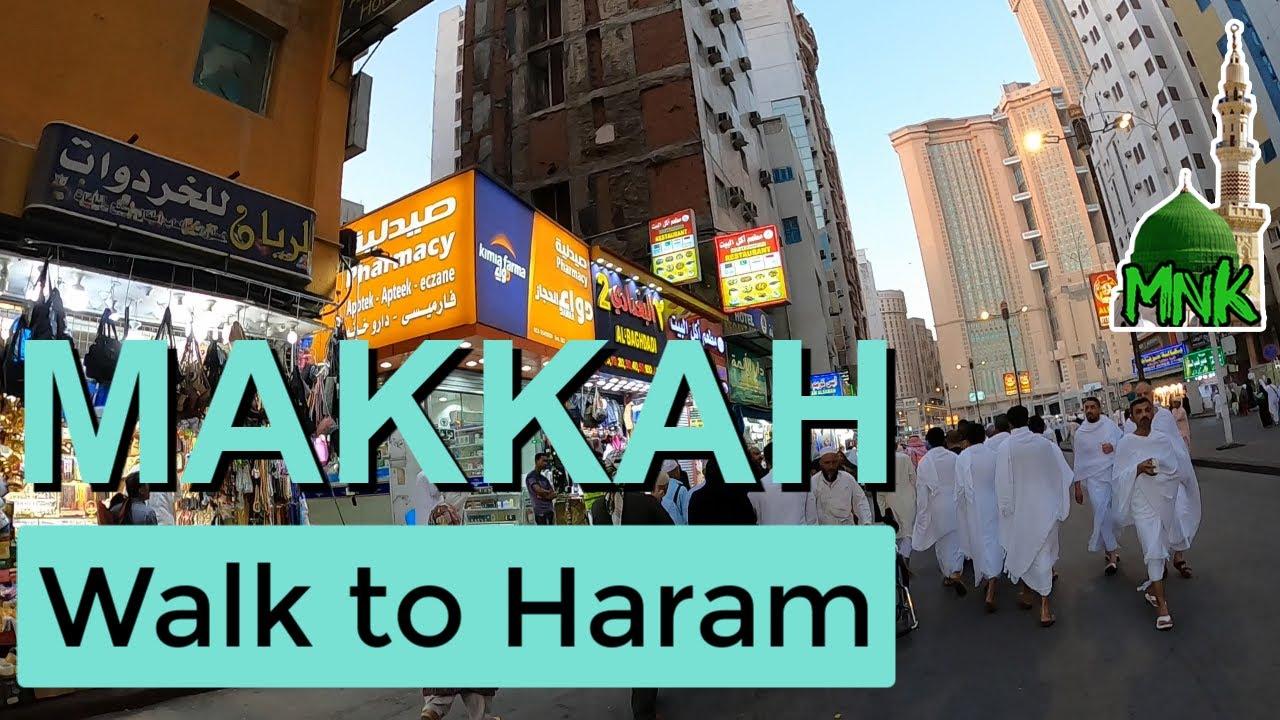 Walk to Masjid al-haram   ibrahim khalil road   maghrib prayer   makkah saudi arabia