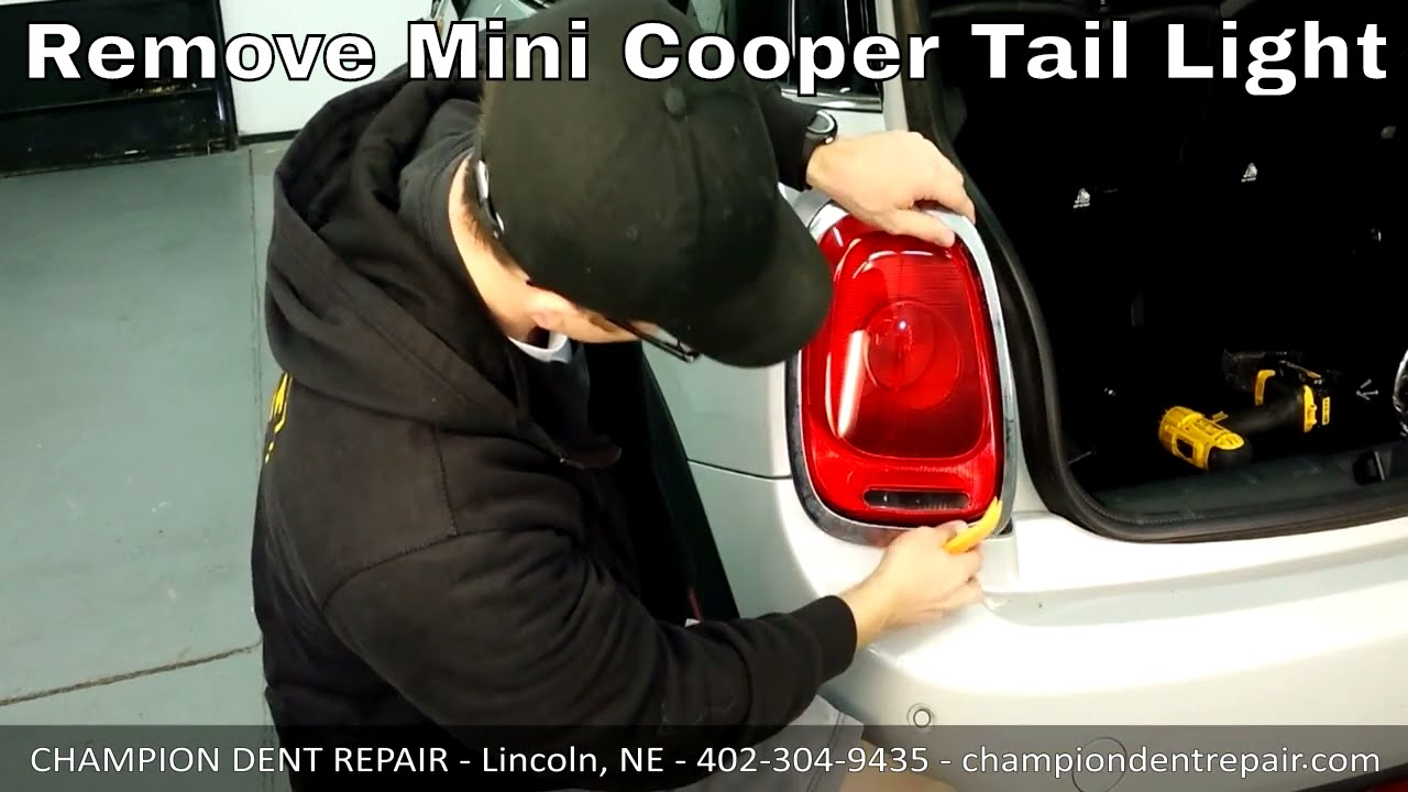 How To Remove Tail Light On Mini Cooper Newer Model Youtube