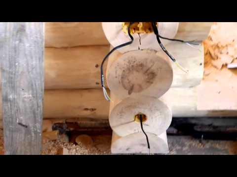 Электрика в деревянном доме из бруса ручной рубки