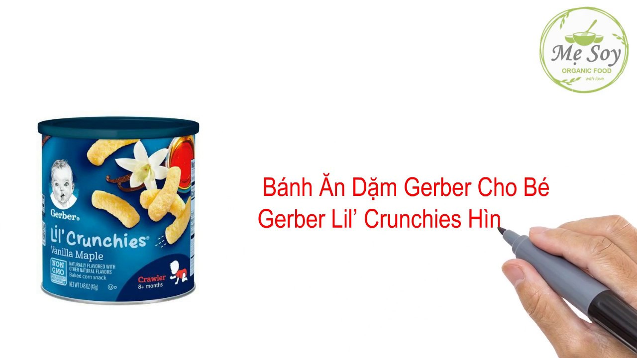 Bánh Ăn Dặm Gerber Cho Bé – Gerber Lil' Crunchies Hình Que