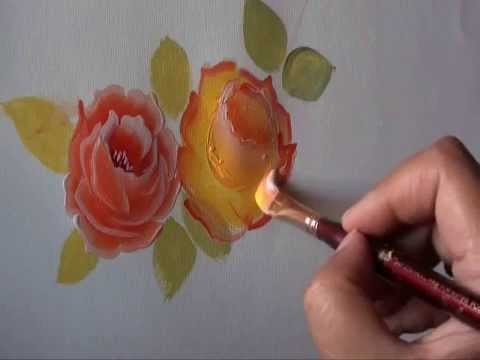 Rose painting a simple way tutorial 10 youtube for How to paint a rose in watercolor step by step