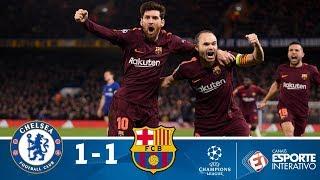 Melhores Momentos - Chelsea 1 x 1 Barcelona - Champions League (20/02/2018)