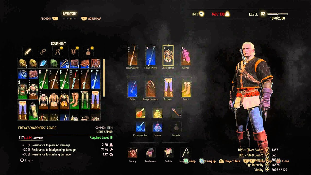 The Witcher 3 Smuggler 39 S Cache Freya 39 S Warrior Armor