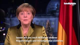 Merkels Neujahrsansprache - Liebes Stimmvieh und liebe Steuerdrohnen