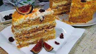 Морковный торт. Простой рецепт очень вкусного торта. Рецепты моей кухни