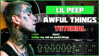 Download Lil Peep - Awful Things | Tutorial | Табы, аккорды и бой Mp3 and Videos