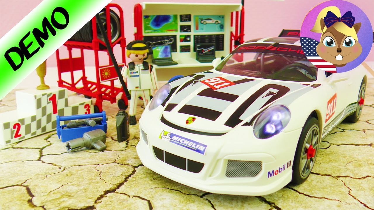 playmobil new porsche 911 gt3 cup demo with racing car. Black Bedroom Furniture Sets. Home Design Ideas