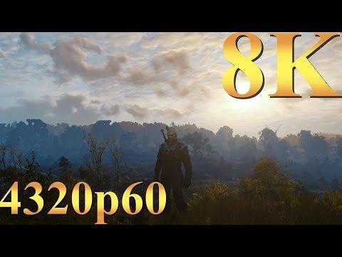 The Witcher 3 8K 4320p60 Gameplay Titan X Pascal 4 Way SLI PC Gaming 4K | 5K | 8K And Beyond
