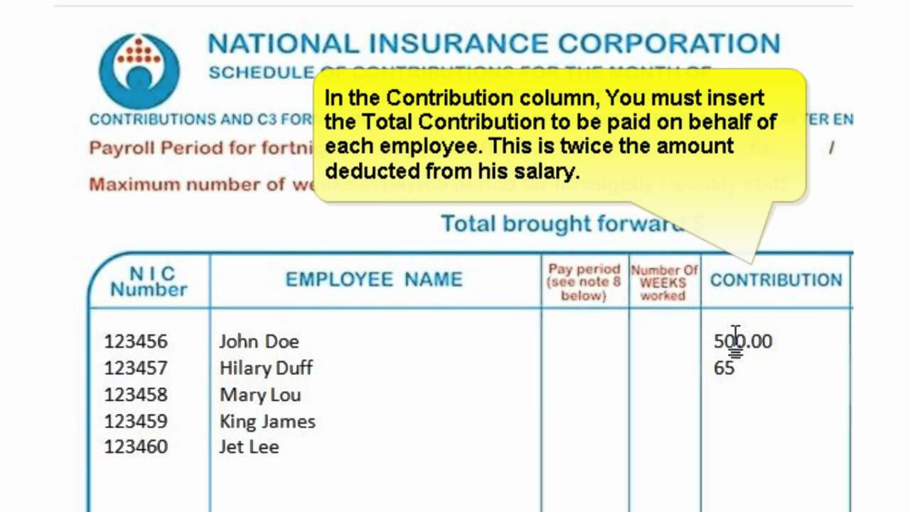 National Insurance application for National Insurance credits (MODCA1)