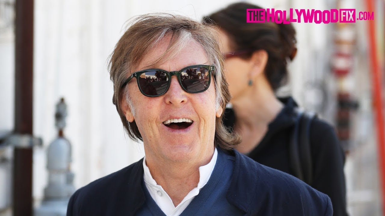 Paul McCartney Is Asked About John Lennon While Leaving Lunch With Nancy Shevell In Beverly Hills