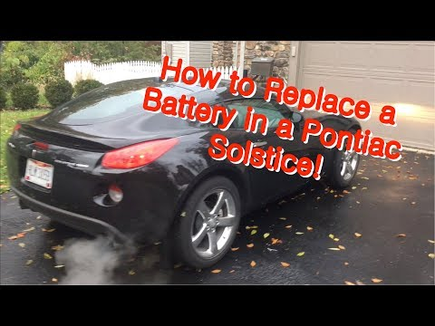 How to Replace a Battery In A Pontiac Solstice / Saturn Sky