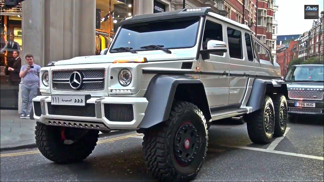 classe g 6x6 brabus builds 700hp 6x6 g class mbworld 2014 mercedesinsane mercedes g63 6x6 driving in london youtube
