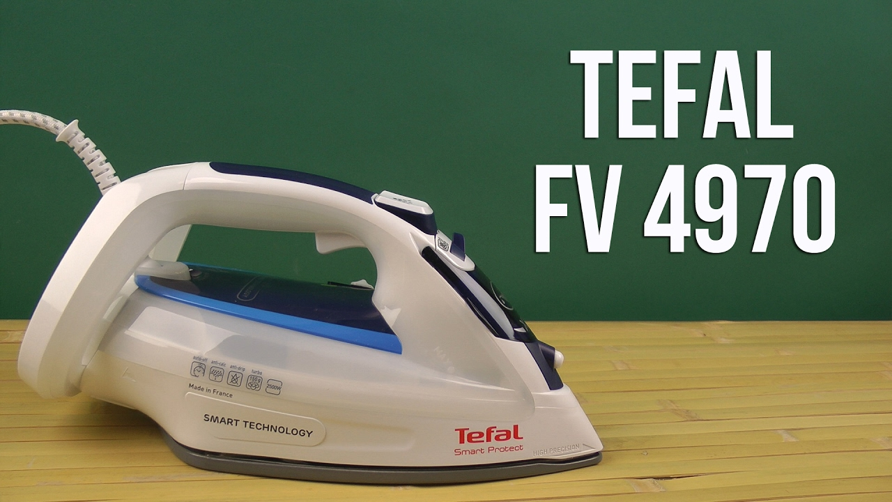 Tefal Smart Protect FV4970 2500 Watt Iron - YouTube