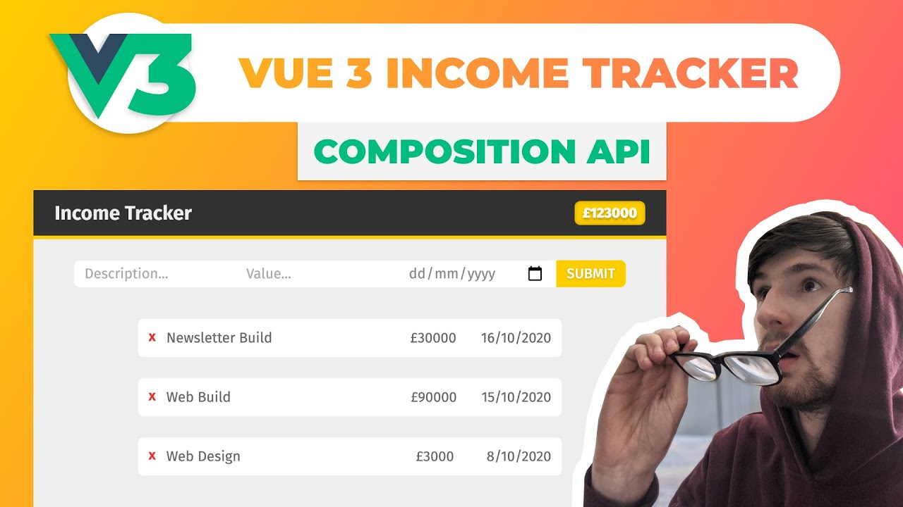 Build an Income Tracker in Vue JS ~ Composition API