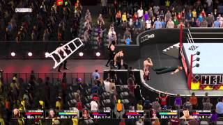 How to Win A Ladder Match Outside the Ring Glitch - WWE 2K15