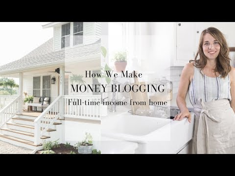 HOW DO YOU MAKE MONEY BLOGGING | Full Time Income From Home