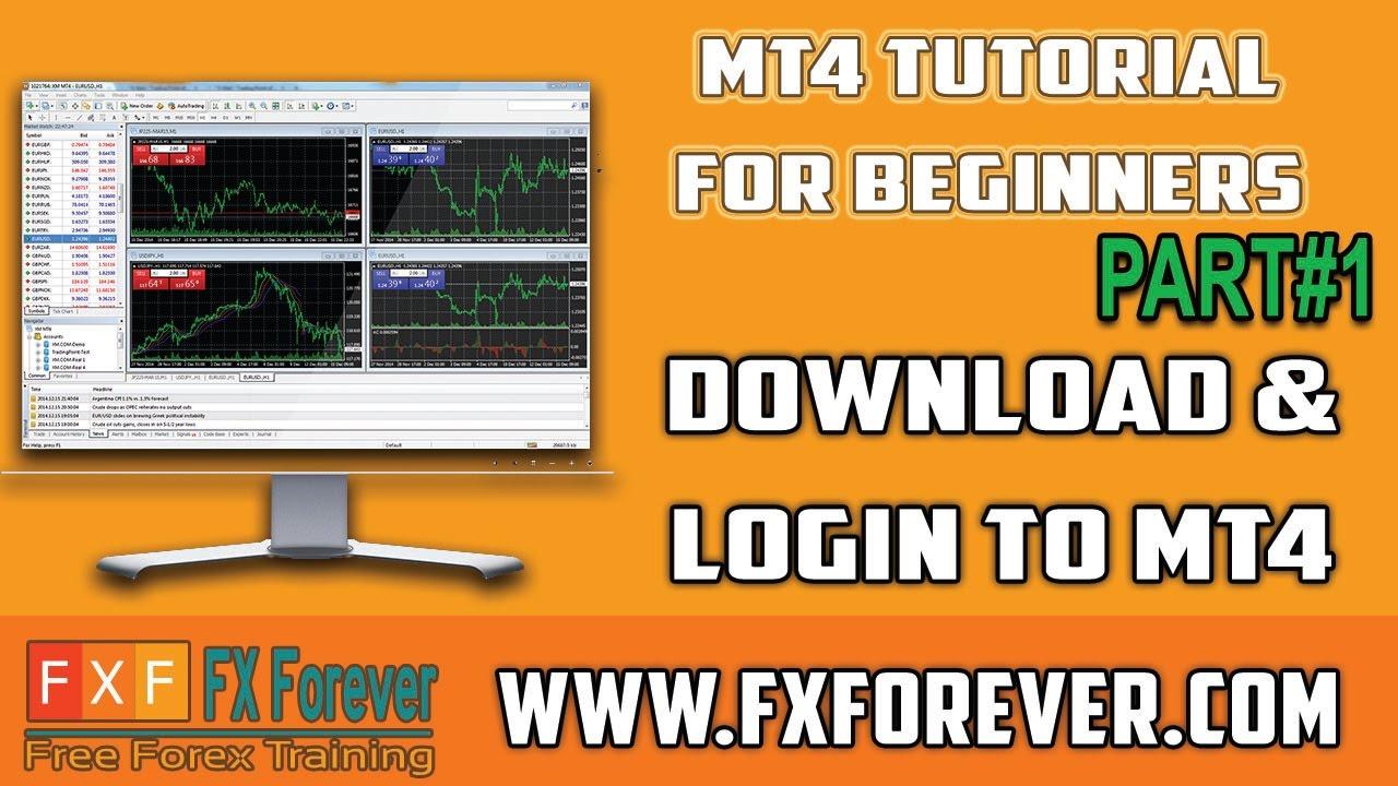 Mt4 Download Login Mt4 Tutorial For Beginners Youtube