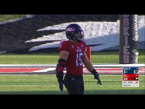 finest selection 1c234 4d5d3 NIU's Sutton Smith Sack #4 vs Kent State