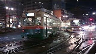 広島電鉄1900形1902号『桃山』&800形805号&1000形1001号 十日市町にて