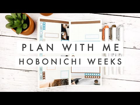 Plan With Me // Hobonichi Weeks DIY Sticker Template