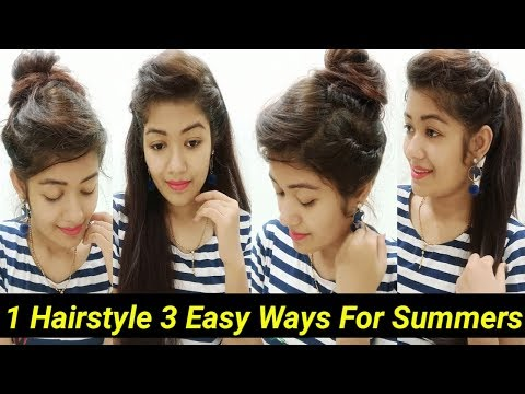 1-hairstyle-3-different-ways-|-easy-hairstyles-for-work/college/party's-||-krrish-sarkar
